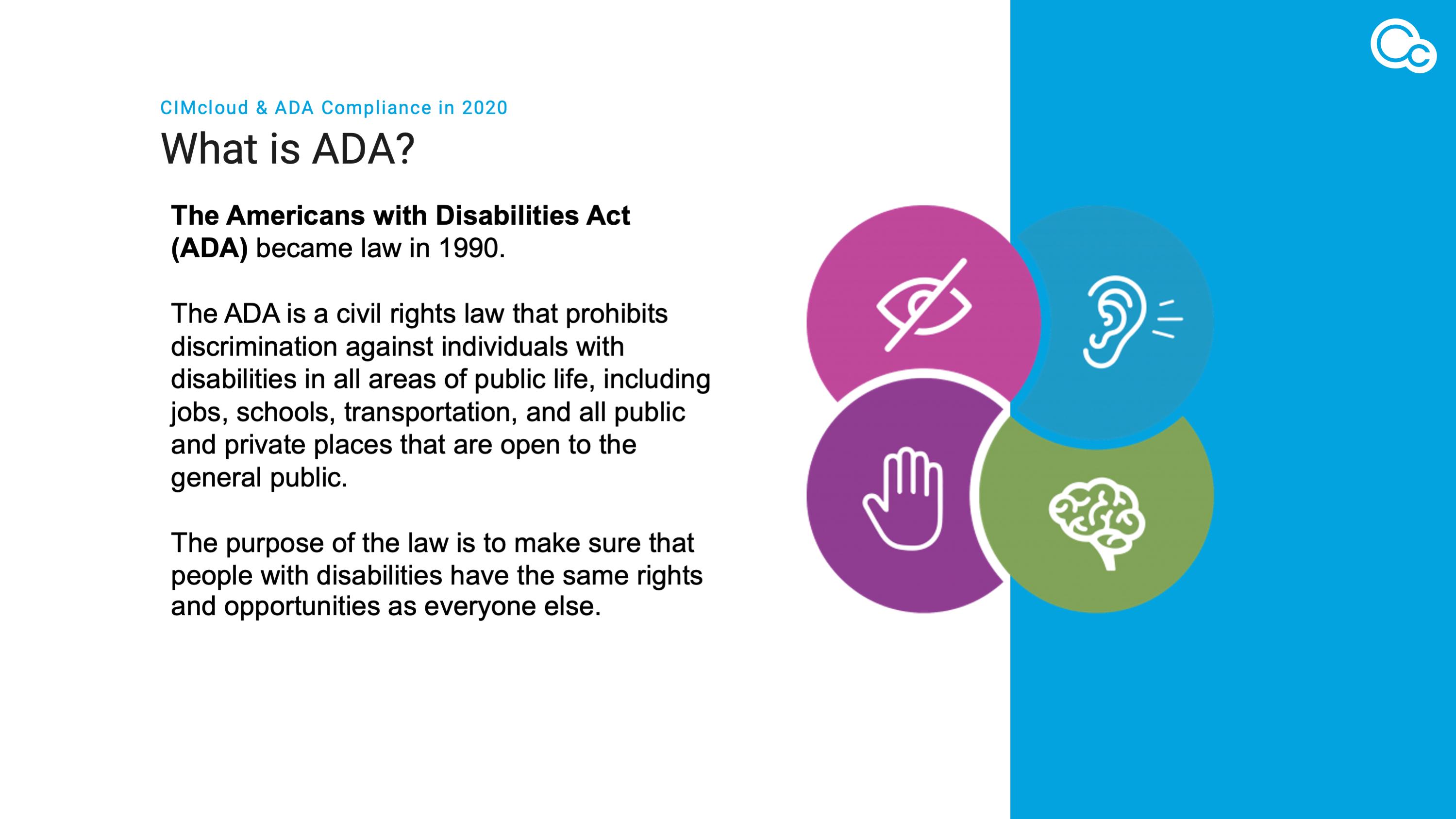CIMcloud & ADA Compliance in 2020 image