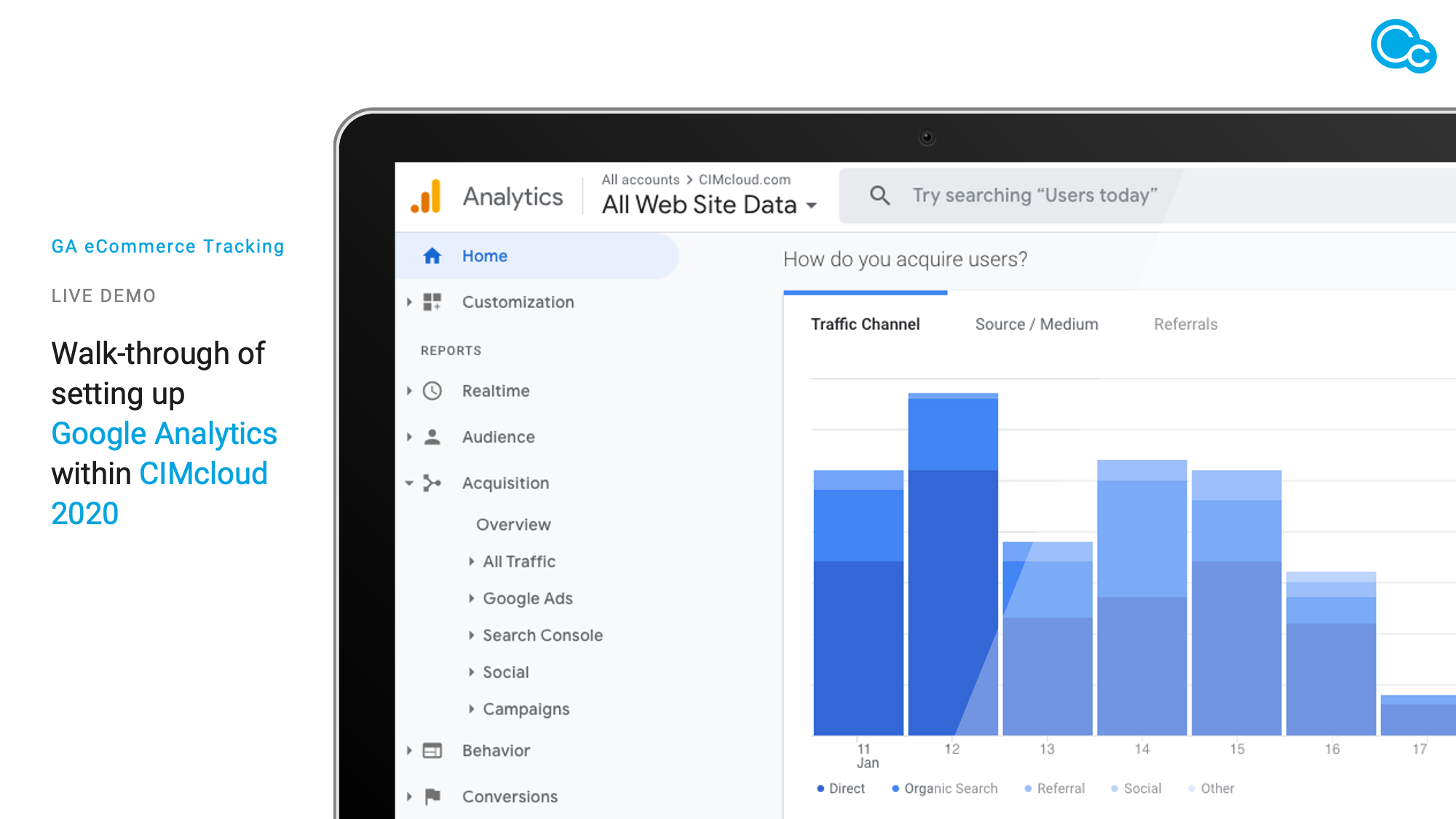 CIMcloud 2020 & Google Tag Manager image